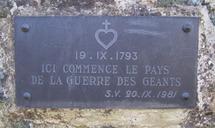 La plaque du Souvenir Vendéen (20 septembre 1981)
