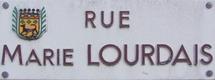 Plaque de la rue Marie Lourdais à La Gaubretière