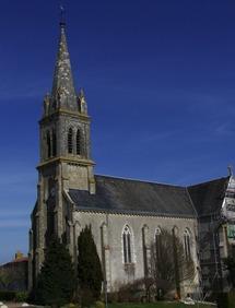 L'actuelle église de La Chapelle-Largeau