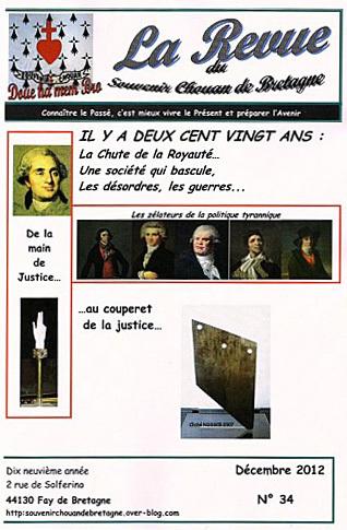 Le n° 34 du Souvenir Chouan de Bretagne vient de paraître