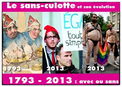 220 ans d'évolutions pour le sans-culotte : 2013 année de la fracture générationnelle ?
