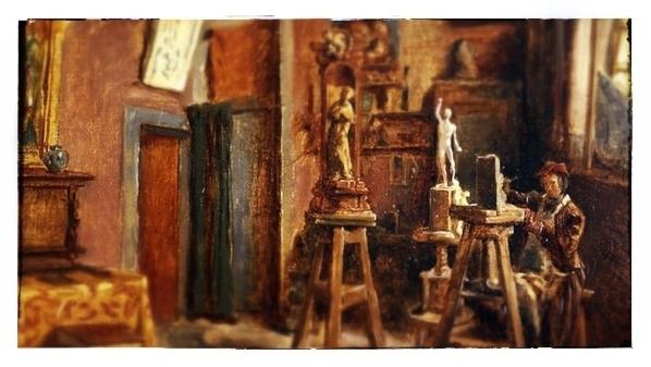 Atelier de Félicie de Fauveau, Florence, 1862