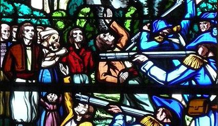«Il ne faut pas que je vous laisse ignorer non plus, que la veille de la Noël, instruit par un espion qu'ils [les brigands] s'étoient retiré à Pousoges, au nombre de 400, pour y assister la Messe de Minuit, nous nous y sommes rendu sur le champ, avec cents cavaliers de la Région du Nord, et 6 husards du 8 régiments»