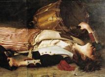 Mort de Joseph Bara, peinture de Charles Moreau-Vauthier