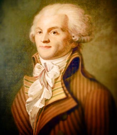 Un homme au visage poudré… qui perdra définitivement la tête le 28 juillet 1794