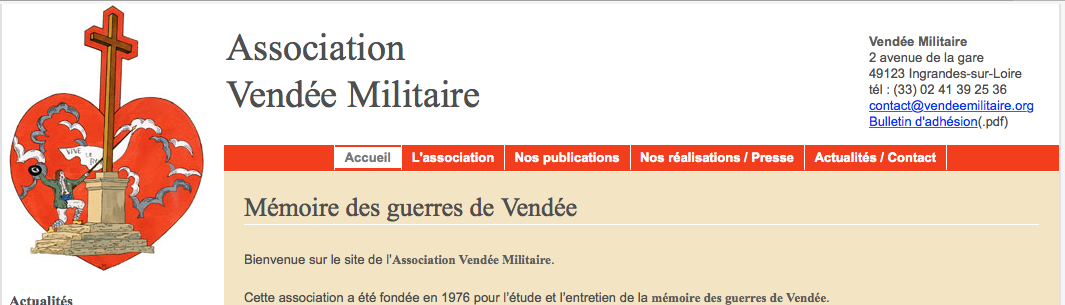 Le site de Vendée Militaire