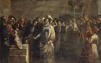 Un tableau de Couder sur le monument aux victimes de Quiberon
