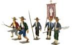 Une jolie collection de 5 figurines vendéennes signée CBG