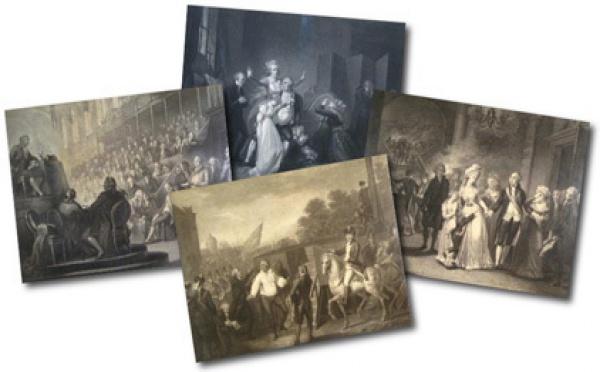 Les derniers jours de Louis XVI, 4 eaux-fortes de Schiavonetti