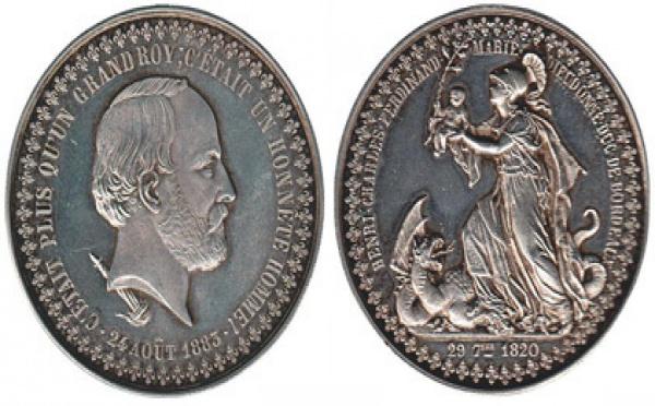Une médaille du Comte de Chambord chez Drouot