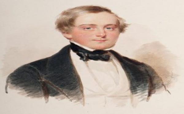 Une aquarelle d'Henri, duc de Bordeaux, comte de Chambord