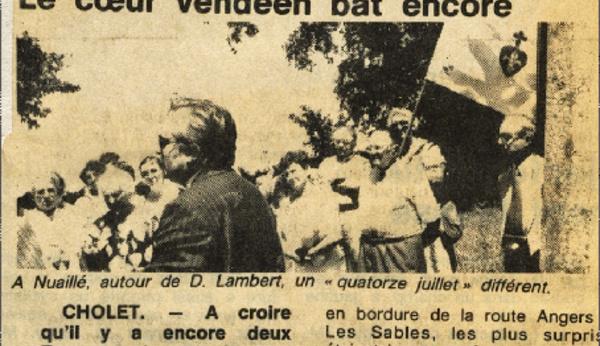 Rendez-vous le 14 juillet avec Vendée Militaire et le Souvenir Chouan